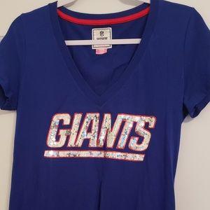 Pink Bling New York Giants Tee